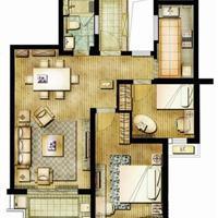 2室2厅2卫  78平米