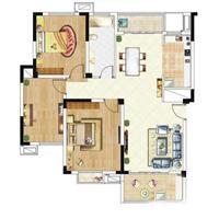 2室2厅2卫  98平米