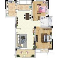1室1厅1卫  58平米