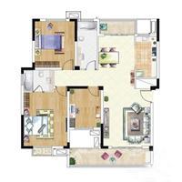 2室2厅1卫  85平米