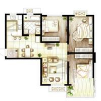 2室2厅2卫  100平米