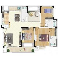 2室1厅1卫  76平米