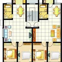 3室2厅3卫  135平米