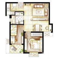 2室2厅1卫  78平米