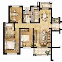 3室2厅1卫  128平米